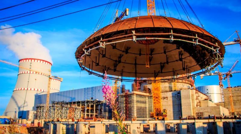 Установка купола герметичной облицовки весом 200 тонн на энергоблоке №2 ЛАЭС-2. Фото Дмитрий Чубарь
