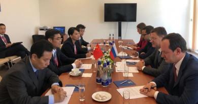 Александр Новак встретился с генеральным директором Государственной электросетевой корпорации КНР Шу Инбяо
