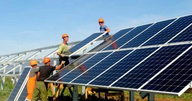 Крупнейшие в России солнечные электростанции начали работать в Оренбуржье