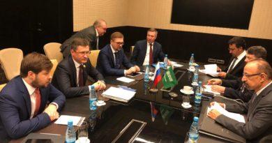 Александр Новак провел переговоры с Министром энергетики, промышленности и минеральных ресурсов Саудовской Аравии Халидом Аль-Фалихом