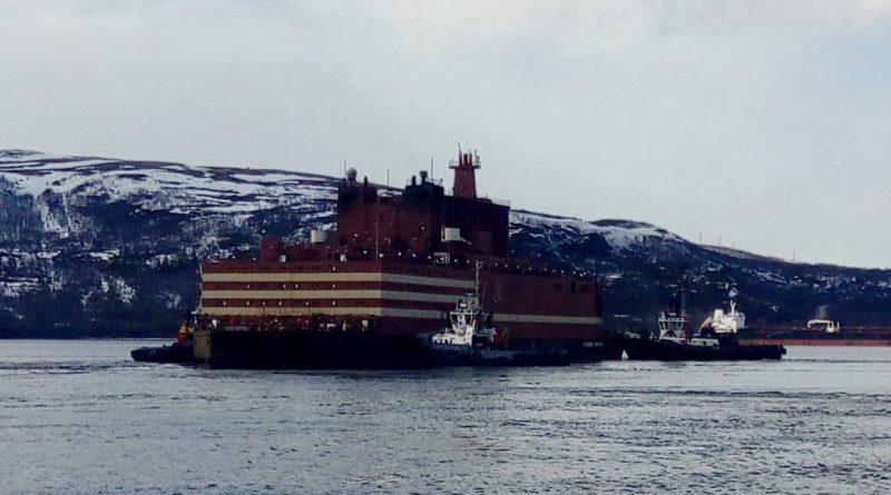 В Мурманске начата операция по докованию плавучего энергетического блока (ПЭБ) «Академик Ломоносов»
