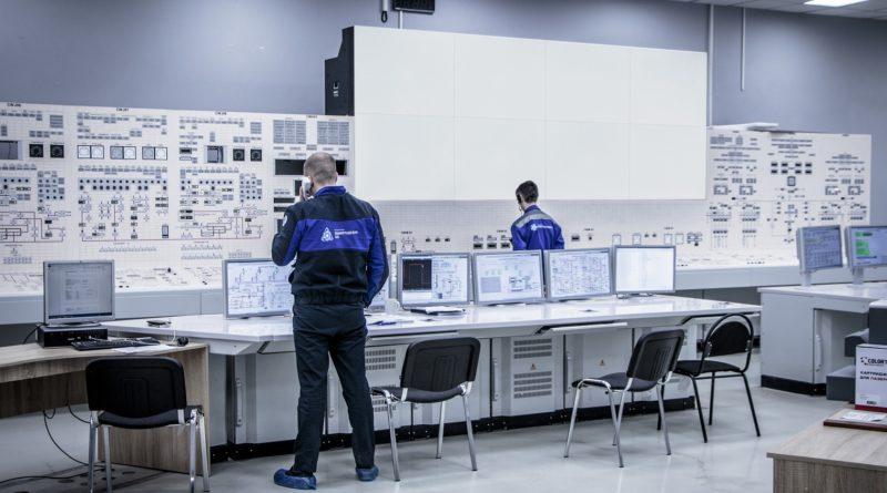 Ленинградская АЭС-2: на энергоблоке №2 ВВЭР-1200 смонтировали видеостену