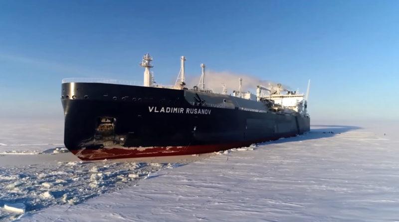 СПГ-танкер «Владимир Русанов» установил новый рекорд времени прохождения Северного морского пути