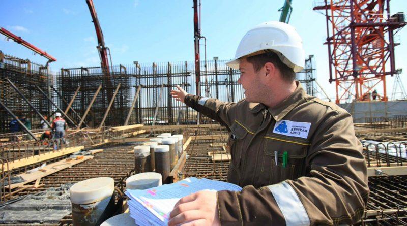На площадке Курской АЭС-2 завершено бетонирование перекрытия кольцевого коридора системы преднапряжения защитной оболочки энергоблока №1