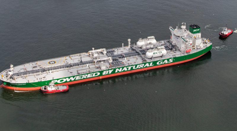 Крупнотоннажный нефтяной танкер впервые преодолеет Севморпуть, используя СПГ-топливо