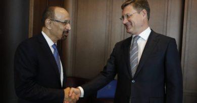Состоялась встреча Александра Новака и Министра энергетики, промышленности и природных ресурсов Королевства Саудовская Аравия Халида Аль-Фалиха