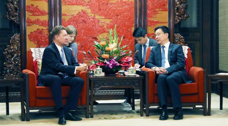 Вице-премьер КНР предложил Газпрому увеличить поставки природного газа в Китай