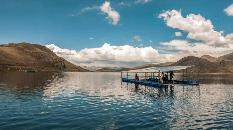 Плавающая фотоэлектрическая панель для системы орошения на высоте 4000 метров