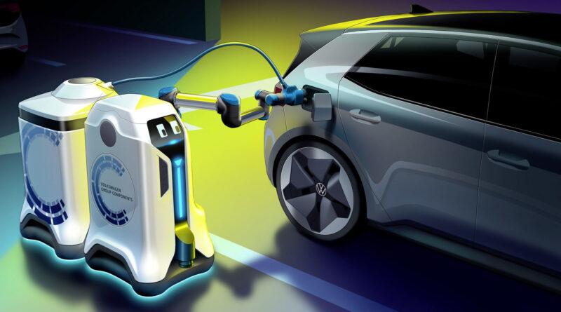 Разработан робот для серийной зарядки электромобилей на парковках